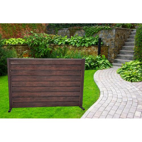 Ștacheți orizontali Modern Plus 0,60 mm Imitație lemn - vopsiți pe ambele părți
