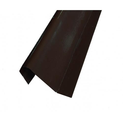 Coamă gard Modern Plus Dublu vopsit Ral 8019 - Maro brun