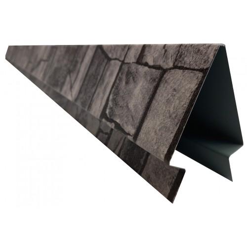 Coamă gard color 2 m 0,50 mm imitație piatră