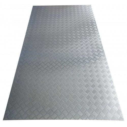 Tablă aluminiu striat 1 x 2 m