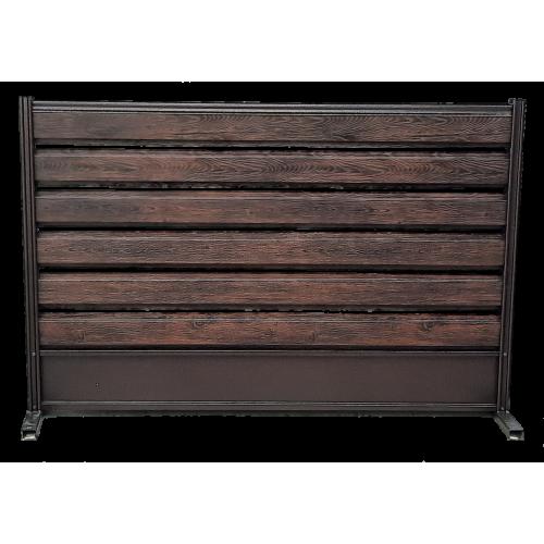 Panou ștacheți orizontali imitație lemn