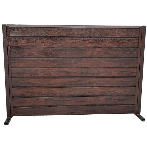 Panou cu ștacheți orizontali Modern Plus imitație lemn