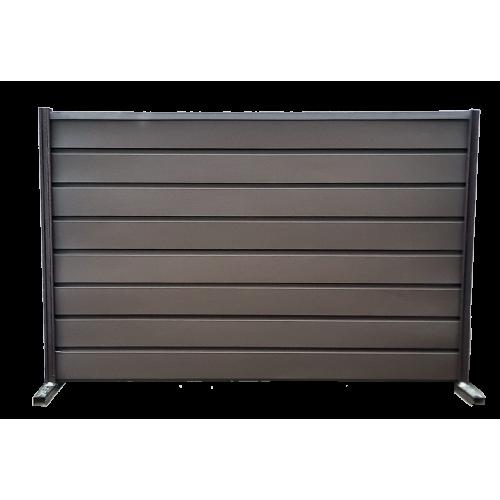 Panou gard cu profil Modern Plus dublu vopsit RAL9005 - Negru