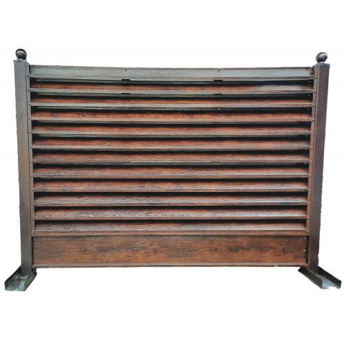 Panou gard cu jaluzele imitație lemn