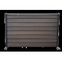 Gard cu profil Modern Plus Mat Ral 8019 - Maro brun