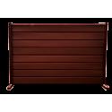 Gard cu profil Modern Plus Mat Ral 8017 - Maro roșcat
