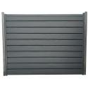 Gard cu profil Modern Plus Mat Ral 7024 - Gri antracit