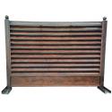 Gard tip jaluzea imitație lemn 0,60 mm
