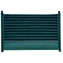 Gard tip jaluzea imitație verde antic 0,70 mm